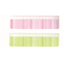 15cm Light Green and Pink Ruler