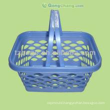plastic handle shopping basket mould