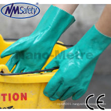 NMSAFETY EN374 Thickness 15mil length 33cm flocklined industrial nitrile gloves/working glove