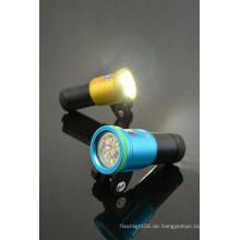 Hallo-max 2700lm + wiederaufladbare Batterie Extra Wide Beam LED Tauchlicht