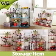 Organizadores de armario DIY fácil montado estante de almacenamiento de alambre