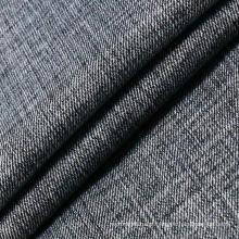 Tecido preto de algodão viscose poliéster spandex denim para Jeans