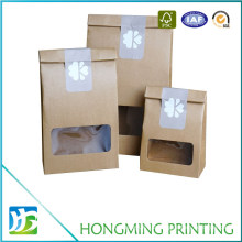 House Shape Brown Craft Food Paper Box with PVC Window