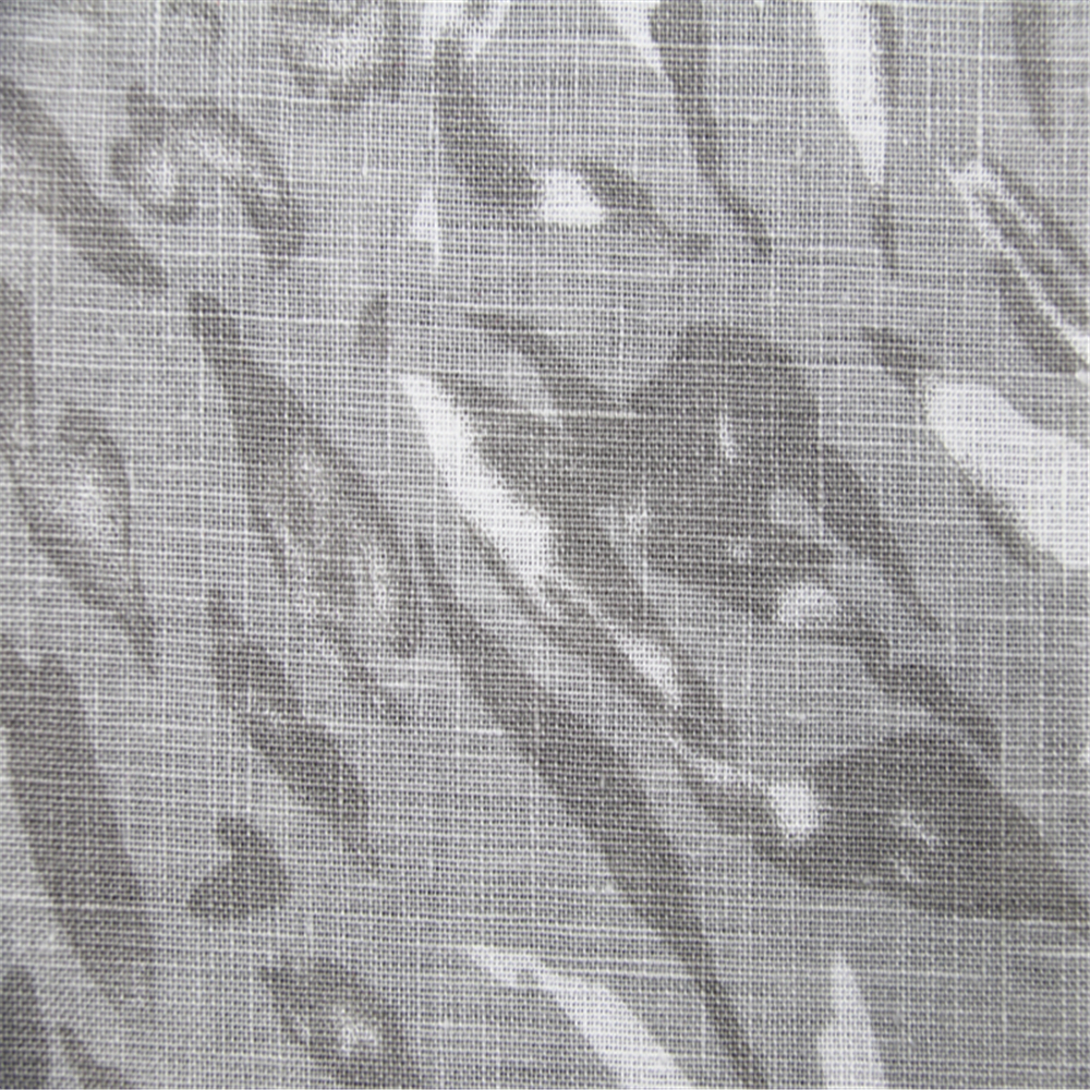 Linen Plain Printed Fabric