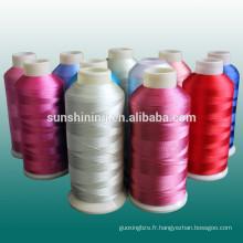 Rayon et fil de broderie en polyester