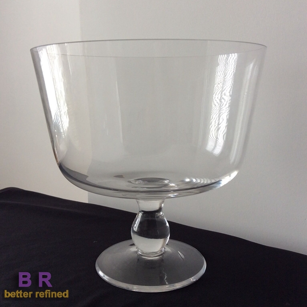 Footed Selene Glass Trifle Bowl
