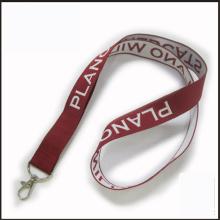 Promotion gewebt / Jacquard / bestickt Logo benutzerdefinierte Lanyard für anzeigen