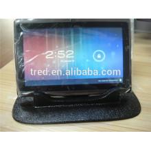 tenedor móvil estupendo del soporte del soporte del coche del sostenedor de la tableta del gel del PU para la PC de la tableta
