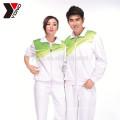 Conjuntos de roupas esportivas de manga longa em branco China fábrica treino