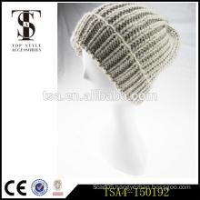 high grade crochet knitted women beanies 100% acrylic knit winter hat