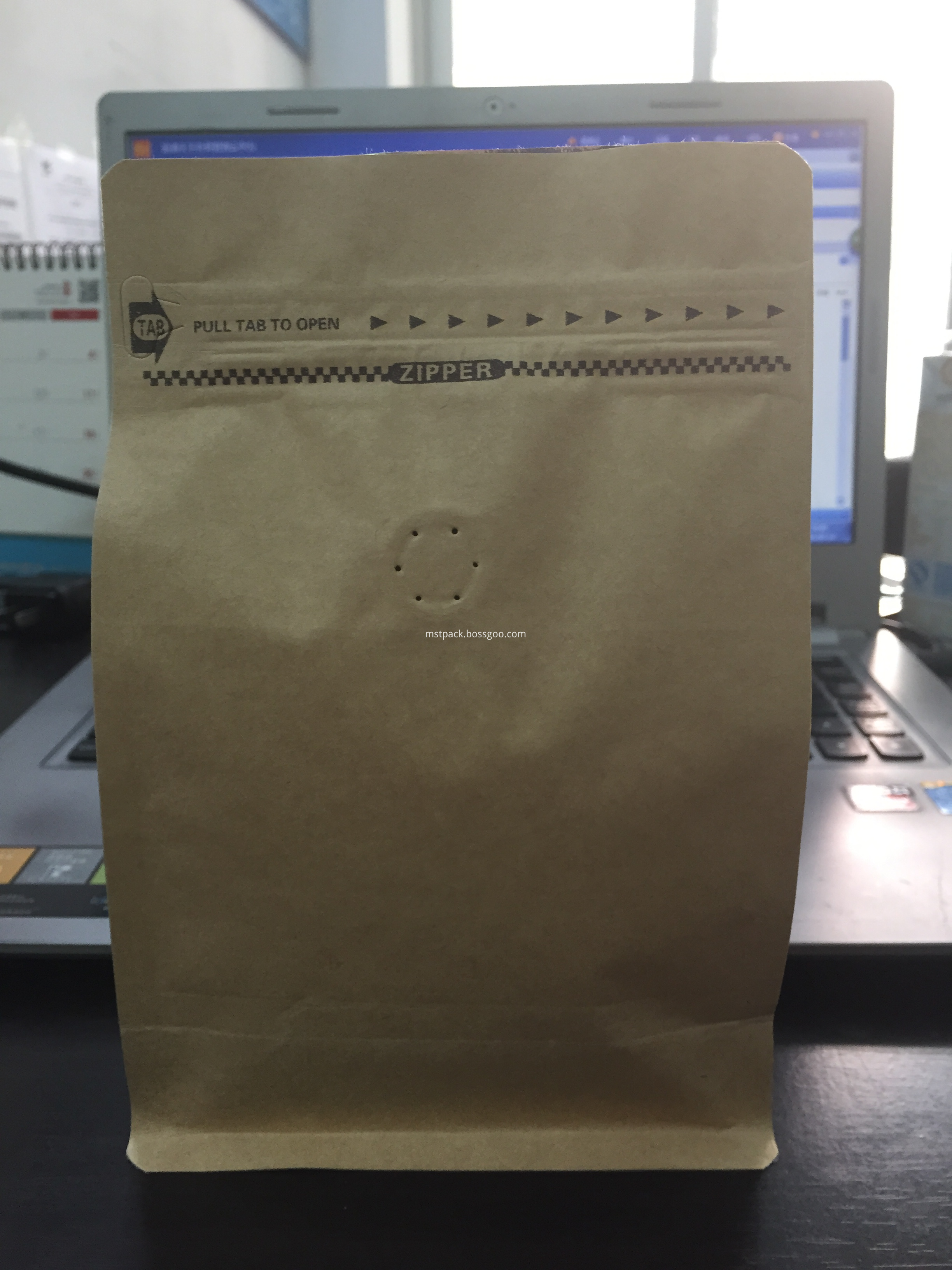 Box Pouch with Pocket Zipper
