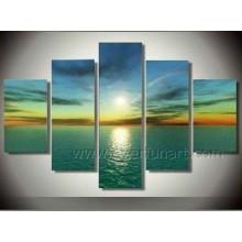 Pure Handpainted Fashion Seascape Sunset Wall Art Painting (SE-179)