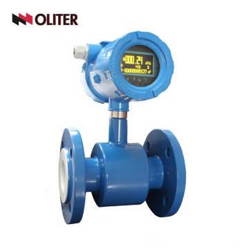 Medidor de flujo electromagnético magnético de la categoría alimenticia de las aguas residuales de la leche de aceite de Digitaces