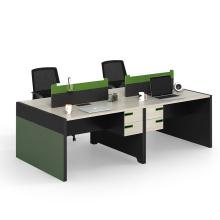 Modern Design Melamine Board Type Modular Workstation for 4 Person