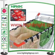 Reciclado de tela plegable bolso de la carretilla de supermercado