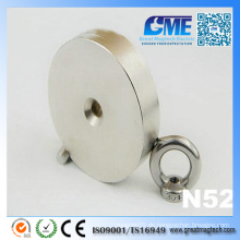 Starker N52 D80 X 20mm Hebender Senkkopf Neodym Magnet