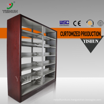 China manufacturer Double Side School Library Book Display Shelf / Wholesale Bookshelves / metal book shelf