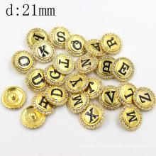 Пользовательский штампованный логотип Diamond Brass Snap Button