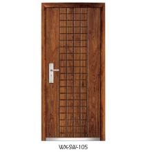 Expert Supplier Steel Wooden Door (WX-SW-105)