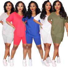 Kurze Sets Frauen 2-teilige Outfits