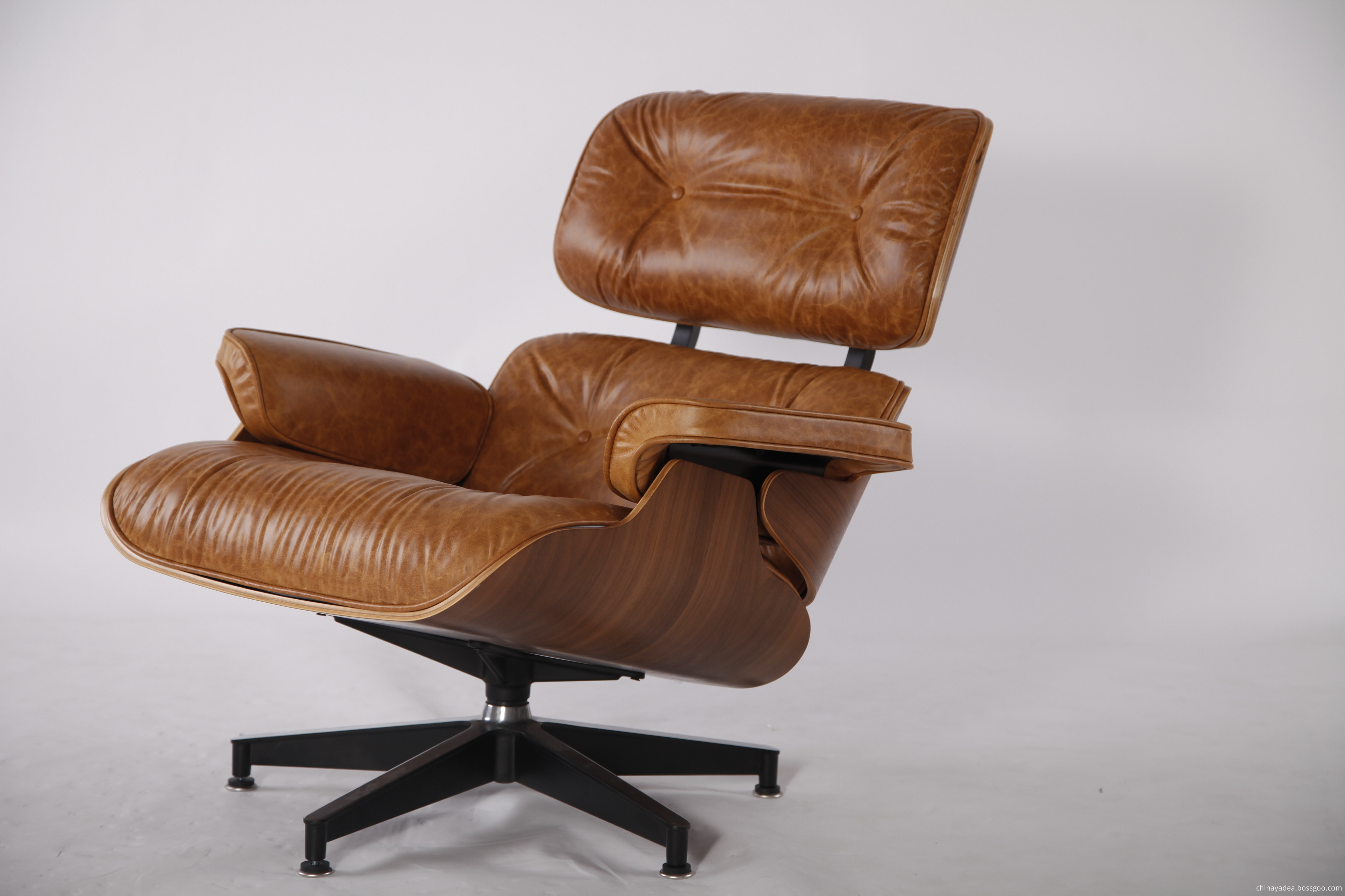 antique leather Eames Lounge Chair