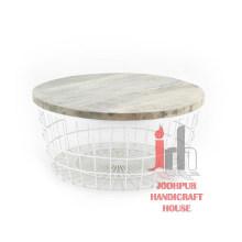 Table basse en fer blanc