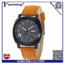 YXL-375 2016 моды кожа группы Японии кварц движение Curren военных бренда часы мужчины смотреть