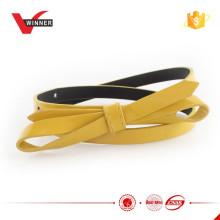 Fancy girl's patent pu bow belts