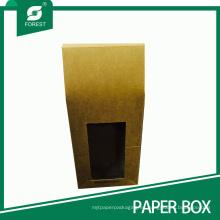 Kraft para llevar caja de embalaje de alimentos con ventana