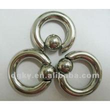 Nueva joyería de perforación del cuerpo del diseño, anillo del anillo de la bola del acero inoxidable