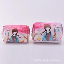 Pink Cosmetic PU Bags