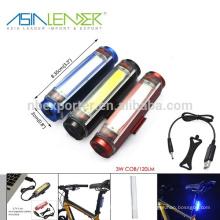 Iluminación del 100% Iluminación del 50% y destellando Fuente de alimentación de la batería del Li-ion 3.7V Alumbrador de 3w de la cosechadora Luz de LED que destella para la bici