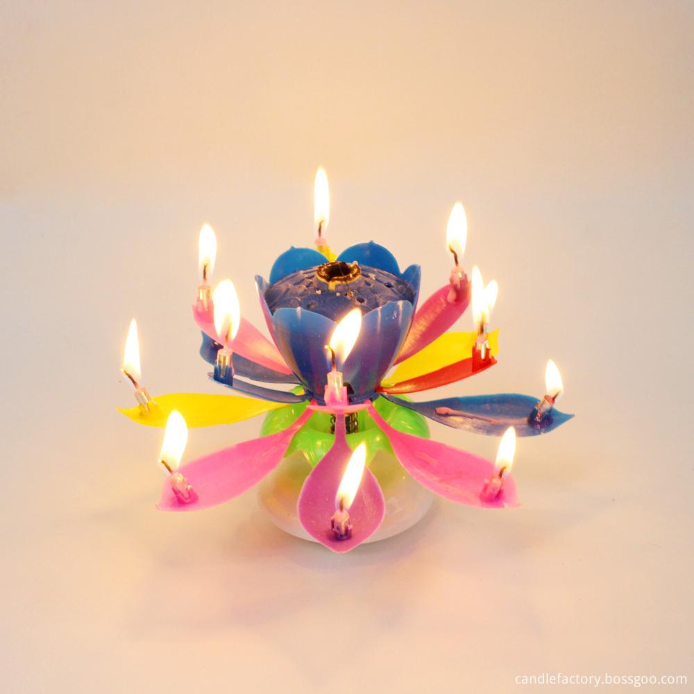 Music Cake Birthday Candle