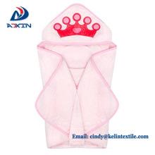 Venta caliente 100% algodón animal diseño niños con capucha toallas de baño