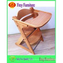 Alta calidad de seguridad bebé alimentando silla alta con almohadilla
