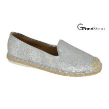 Women′s Espadrilles Glitter Casual Flat Shoes