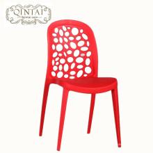 Precio de fábrica de moda silla de comedor simple oficina moderna recepción negociación silla de plástico silla de café al aire libre de ocio