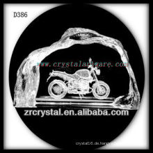 K9 3D Lasersubsurface Motorrad in Crystal Iceberg