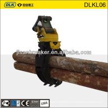 Grappin tournant de grappin en bois de rondin de bois, seau de grappin pour l'excavatrice de CAT Hyundai Doosan