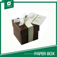 Пользовательские свадебный подарок пользу коробка с бантом
