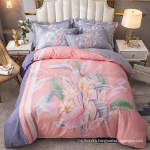 Luxury High Quality Bedding Set Cotton Brushed Fabric Comfortable for 4PCS King Bed