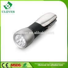 High power 9 White+1 Red led multi-function brightest led flashlight