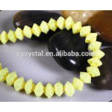 Billige facettierte Glasperlen fliegen Saucer Perlen, Bicone Perlen