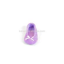 fashion soft quiet purple kid baby indoor dancing shoes slipper