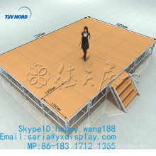 hot sale outdoor aluminum frame stage with plywood platform with optional color
