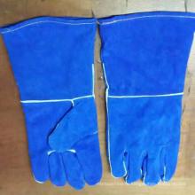 Хорошие качества Blue Safety Промышленные сварочные рабочие перчатки