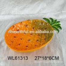 High quality pineapple ceramic platters