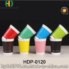 Best Price Double Wall Hot Coffee Paper Cup with Lid (HDP-0120)