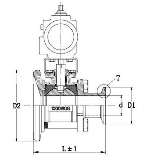 sanitary pneumatic tank bottom ball valve2