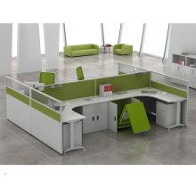 Modern Straight 4 Seats Office Furniture Cluster Staff Combination Partition Workstation